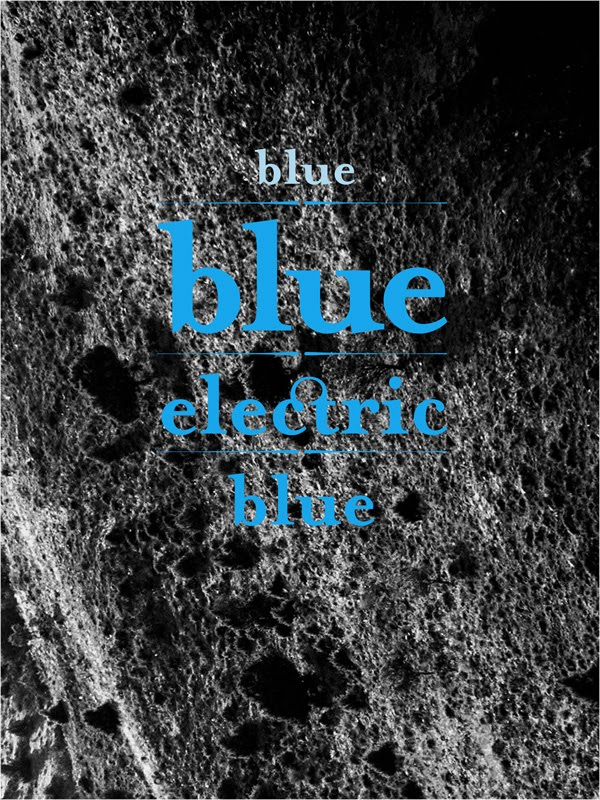 Blue blue electric blue, affiche